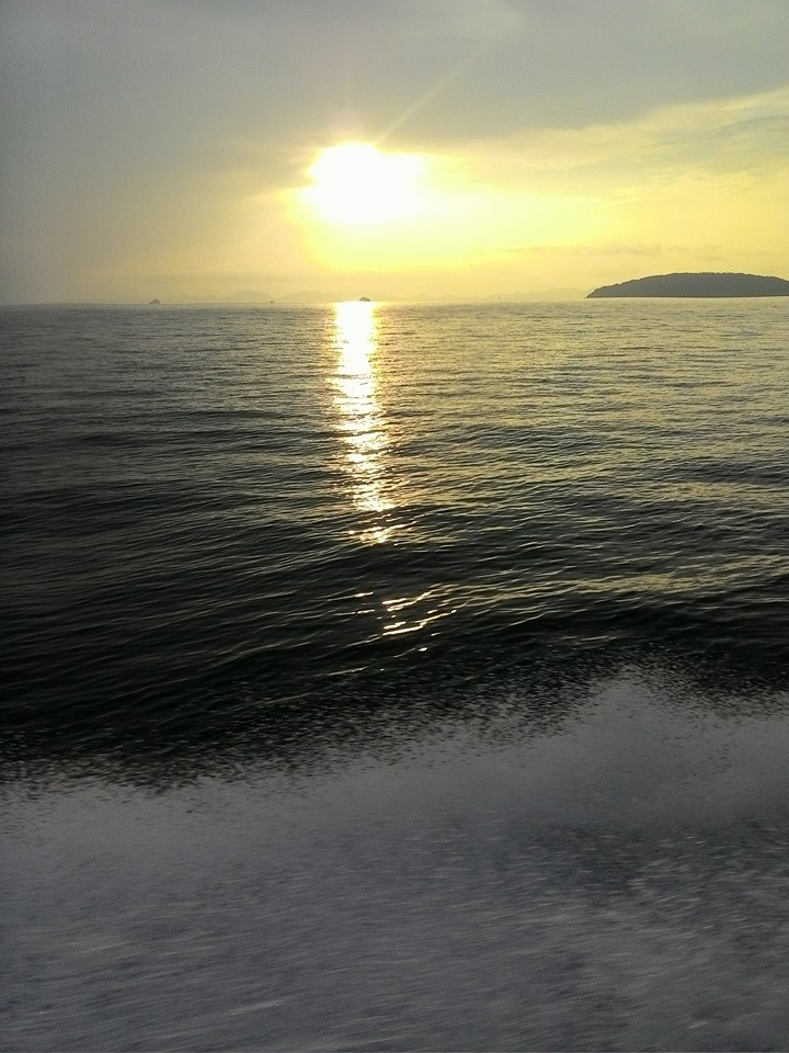 Hong Island Sunset by Long tail Boat