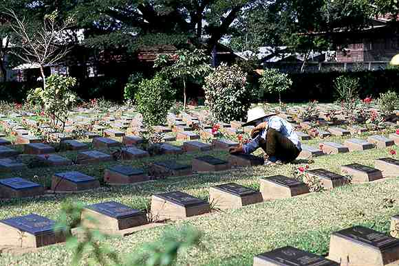 River Kwai Elephant trekking World War Cemetery